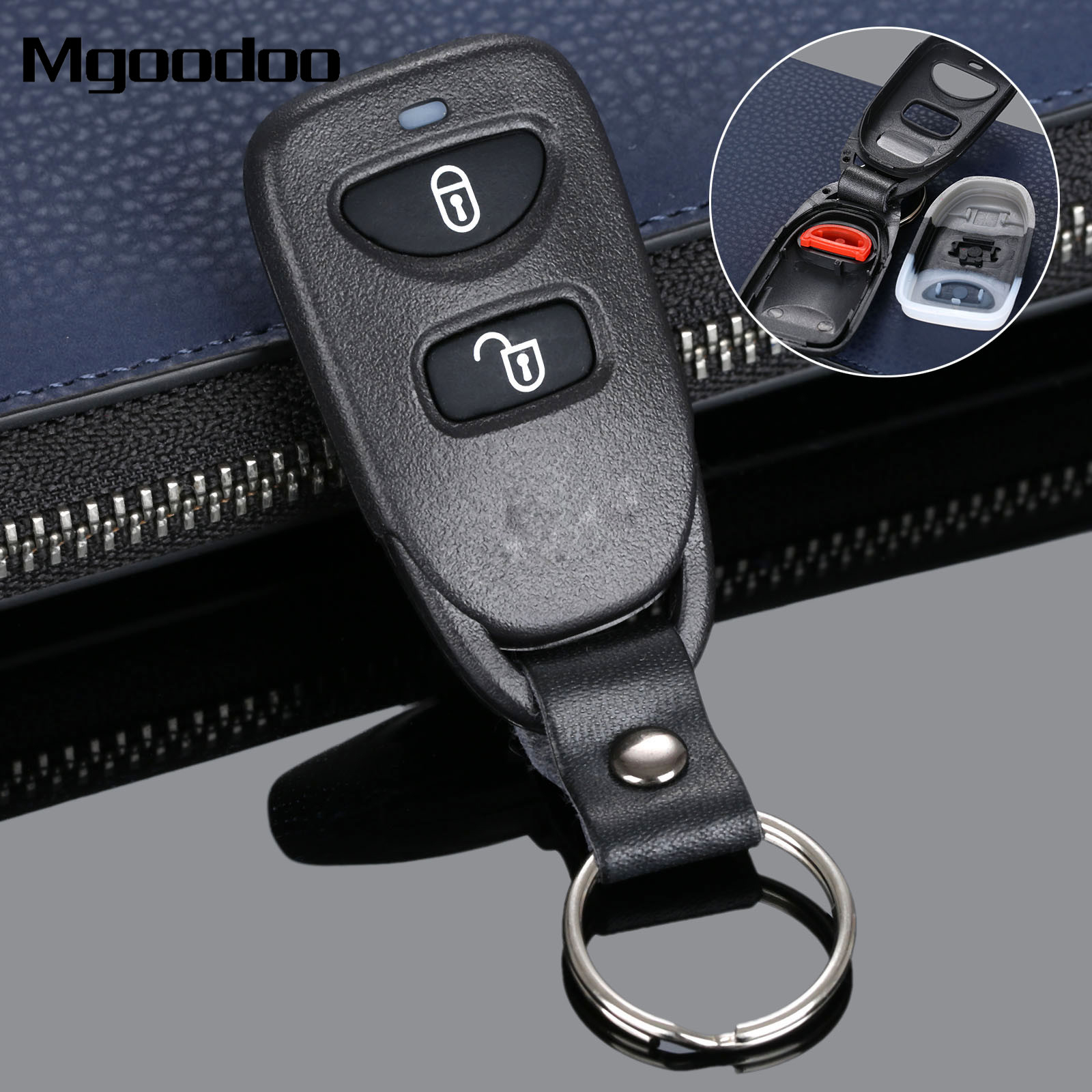 Mgoodoo replacement key case 2 1 buttons smart remote car key shell case fob for