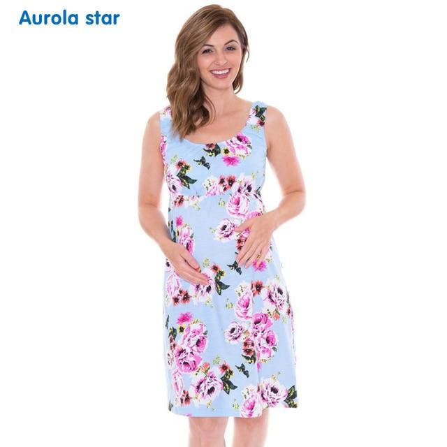 912c43f40 Maternidad embarazo pijamas vestido camisón ropa de dormir vestido camisón  Floral maternidad para ropa pijamas vestidos