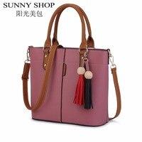 SUNNY SHOP Famous Brand Women Messenger Bags For Women Bag Ladies Vintage Designer Handbags High Quality