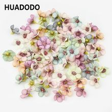 HUADODO 50Pcs 2cm Multicolor Daisy Flower Heads Mini Silk Artificial Flowers for Wreath Scrapbooking Home Wedding Decoration(China)