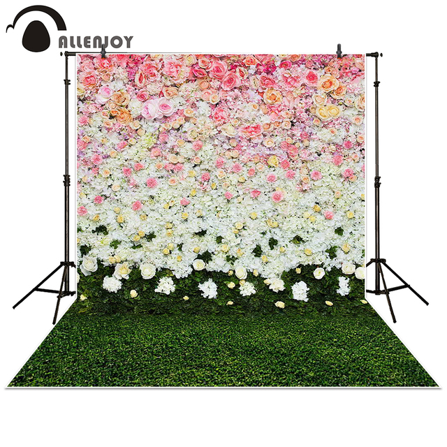allenjoy photographie toile de fond fleurs mur pelouse int rieur herbe fond de mariage props. Black Bedroom Furniture Sets. Home Design Ideas