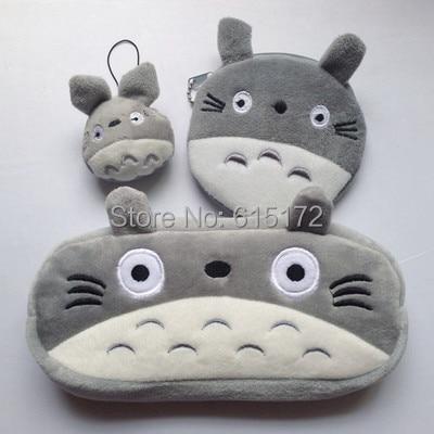 1 Set 3 Item Together Kawaii Cute Birthday Gift Plush My Neighbor Totoro Pencil Case