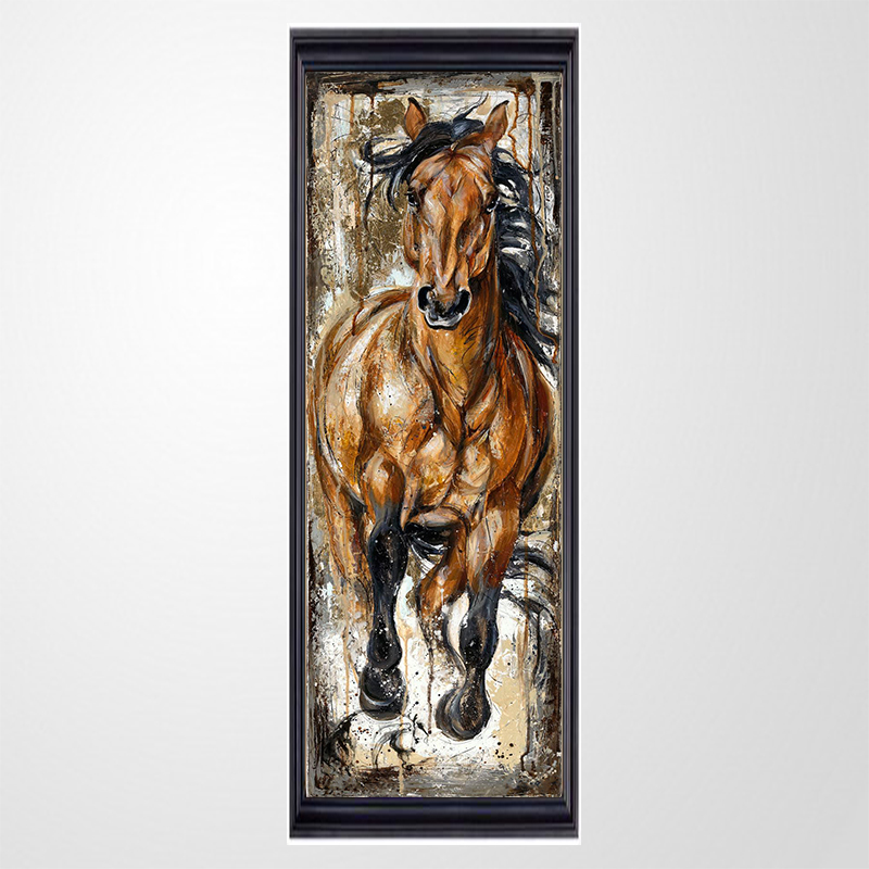 5D Crafts Diamond Paintings Horse Diy Full Diamond Embroidery Animal Kit Round Drill Rhinestone Pasted Unfinish Room Decoration