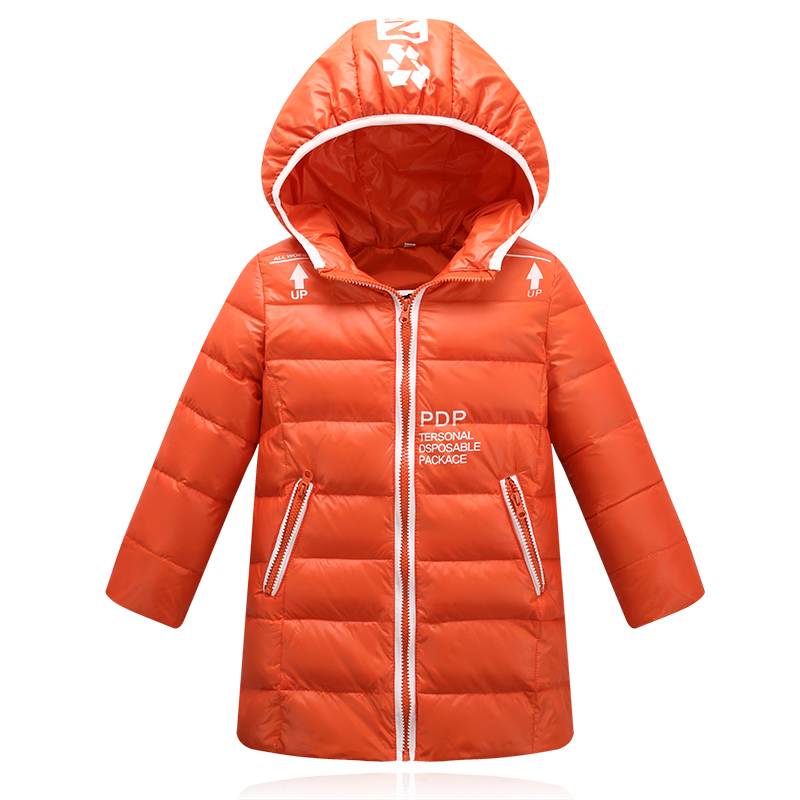 Newest Winter Jacket Girls Child boys Down Coat Letter Printed Hooded Kids Down Jackets Girls Outerwear