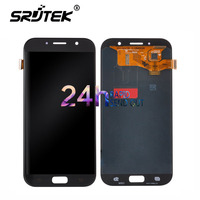 Warranty 5 7 Super AMOLED LCD For SAMSUNG Galaxy A7 2017 LCD Display A720 A720F A720M