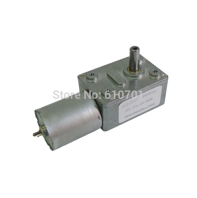 6V 12V 24V Rectangle Worm Gear Box 2 Terminal Electric DC Geared Motor JGY 370 375/237/160/101/40/25/18/12/10/6/4/3/2/1RPM