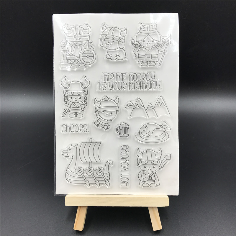 Happy Birthday Transparent Clear Silicone Stamp/Seal for DIY scrapbooking/photo album Decorative clear stamp sheets A563 lovely animals and ballon design transparent clear silicone stamp for diy scrapbooking photo album clear stamp cl 278