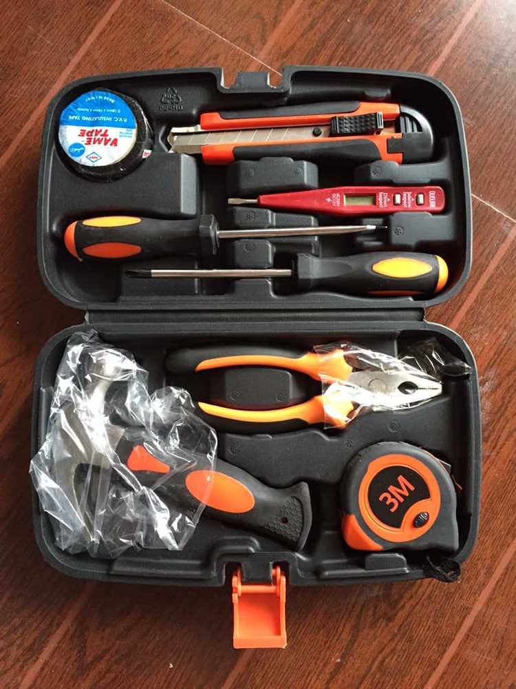Household hardware kit electrician carpenter repair tools a set of 9 ...