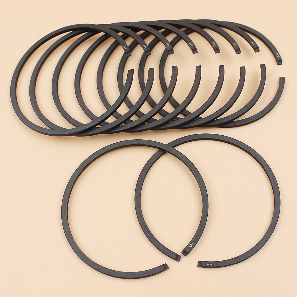 10Pcs/lot Piston Ring Set Fit Stihl BR400 SR400 MS290 MS191 034 028 029 Chainsaw Blower Parts 46mm x 1.5mm