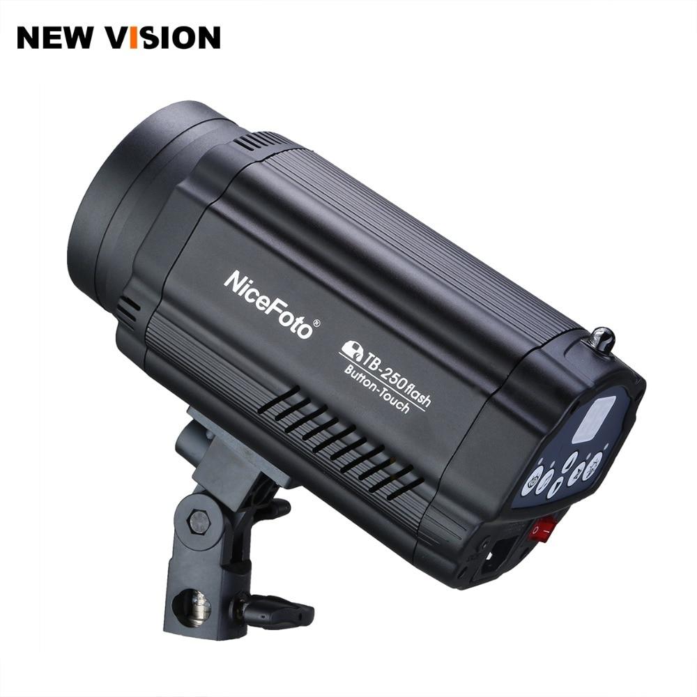 Nicefoto TB 250 250Ws GN55 Photography Mini Studio Strobe Photo Flash Light 250w Recycle time 0
