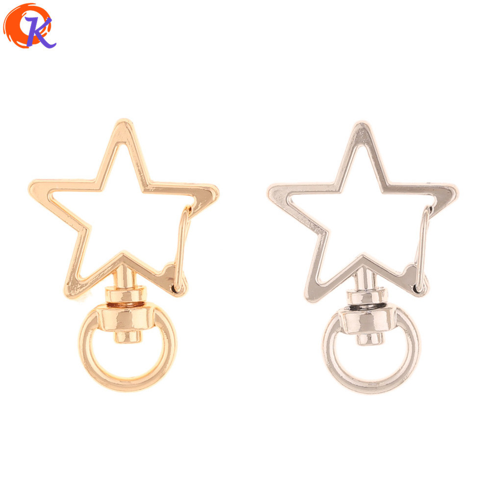 Cordial Design 50pcs 24*35mm Jewelry Accessories/Hand Made/DIY Making/Star Shape/Key Chain Clasps/Jewelry Findings Component