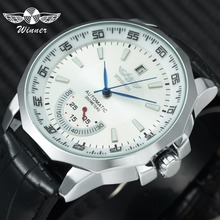 WINNER Official Military Sports Watch Men Automatic Mechanical Sub-dia