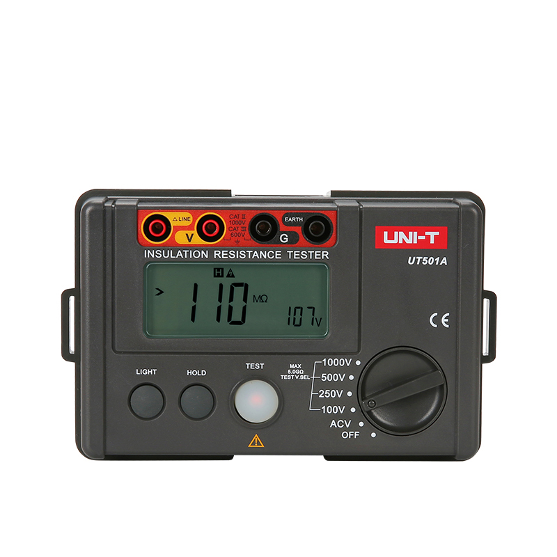 UNI-T UT501A Insulation Resistance tester meter megger earth ground resistance Voltage Tester Megohmmeter Voltmeter + Backlight uni t ut521 2 8 lcd digital earth ground resistance voltage meter tester deep grey red 6 x aa