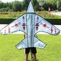 Envío de la alta calidad popular de avión gris wei kite kite 20 unids/lote con kite carrete de la mosca al por mayor niños cometas venta