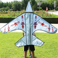 O envio gratuito de alta qualidade populares cinza pipa aeronave 20 pçs/lote com linha de pipa wei pipa carretel da mosca atacado crianças pipas venda