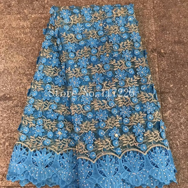 Rhinestones Beaded French Mesh Net Lace In blue African Swiss Voile In  Switzerland Nigeria Tulle India Women Party Dress Tissu a3c4617f6d6b
