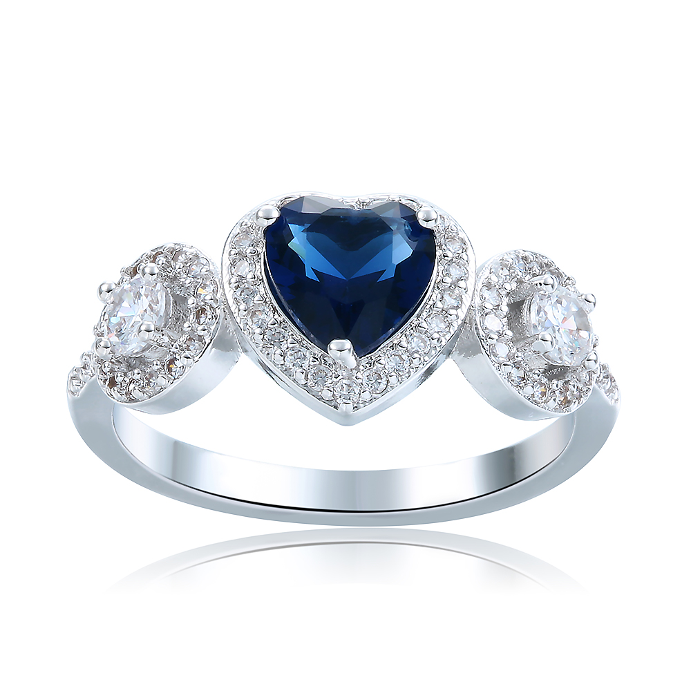 New Style Love Heart Shape 925 Sterling Silver Ring For