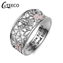 CUTEECO 2019 New Silver Daisy Flower Infinity Love Pave Finger Brand Rings For Women Wedding Engagement Gift Jewelry brand new brand new daisy cd