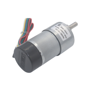 Image 2 - 12V 24VDC 7 1600RPM 37mm Gearbox High Torque Eccentric Shaft Gear Motor With Hall Encoder Geared Motors with protective cap