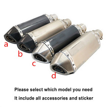Universal 35-51MM Akrapovic Exhaust Muffler Pipe AK51 Racing Moto escape Fit for most motorcycle ATV 125-1000cc Nice Sound