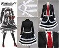 Danganronpa Dangan-Ronpa Celestia Ludenberg uniforme camisa de las muchachas Top falda de encaje de Halloween Cosplay trajes para mujeres