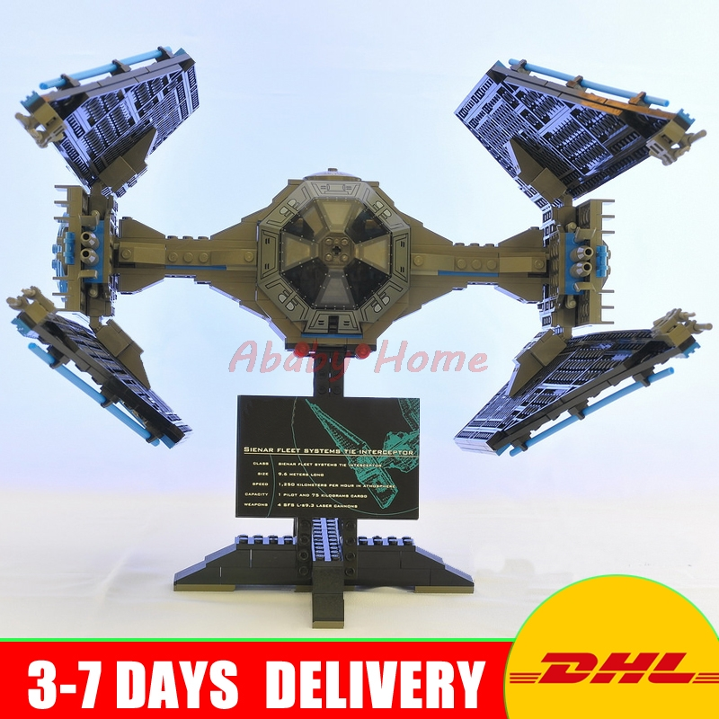New 703pcs Lepin 05044 UCS Series Limited Edition The TIE Interceptor Building Blocks Bricks Model Toys конструктор lepin star plan истребитель tie interceptor 703 дет 05044