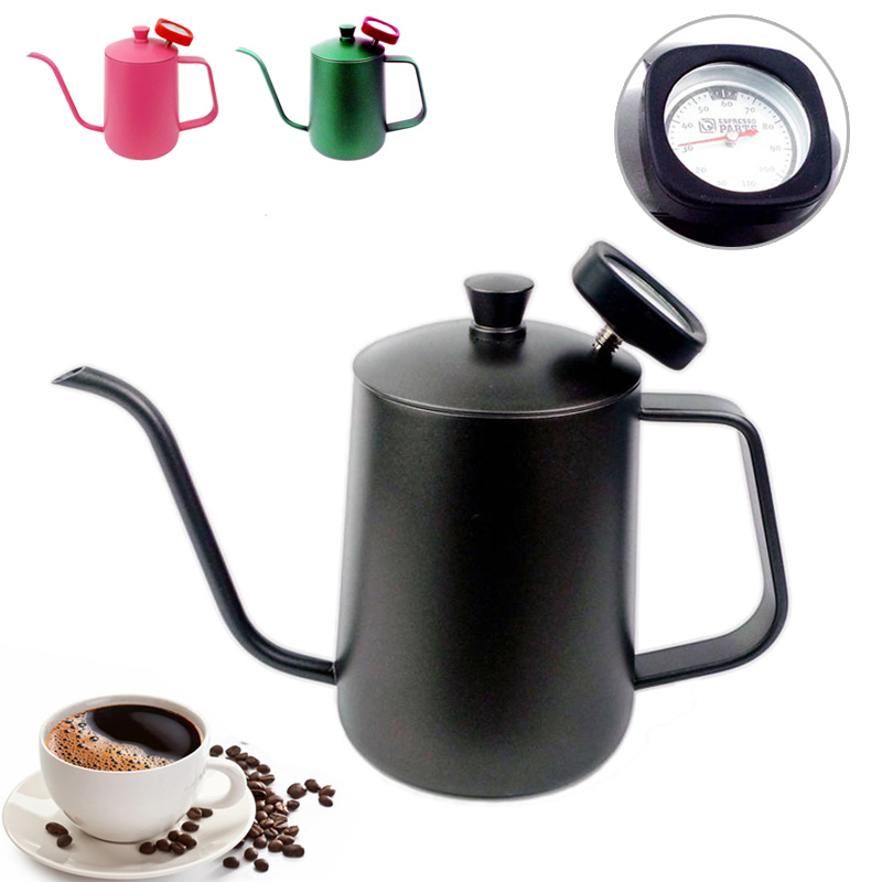 Unibird 1pc 304 Stainless Steel Gooseneck Spout Coffee Pot 600ml Mounting Bracket Hand Punch Pot Dripper Coffee Kettle Teapot Kitchen,dining & Bar Coffeeware