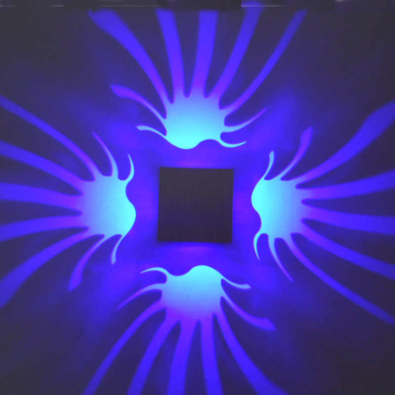 3 واط أدى الجدار مصابيح الألومنيوم الحديثة الشمعدان ضوء الممر نوم الشرفة الممر ktv شريط زهرة سوان ديكور المنزل الإضاءة