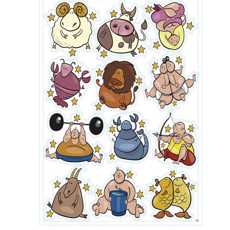 Spirited Hot 12pcs/lot Funny Lovely Pig Dog Bear Monkey Rabbit Tiger Stickers For Trunk Table Computer Waterproof Sunscreen Pvc Decals For Improving Blood Circulation Toys & Hobbies