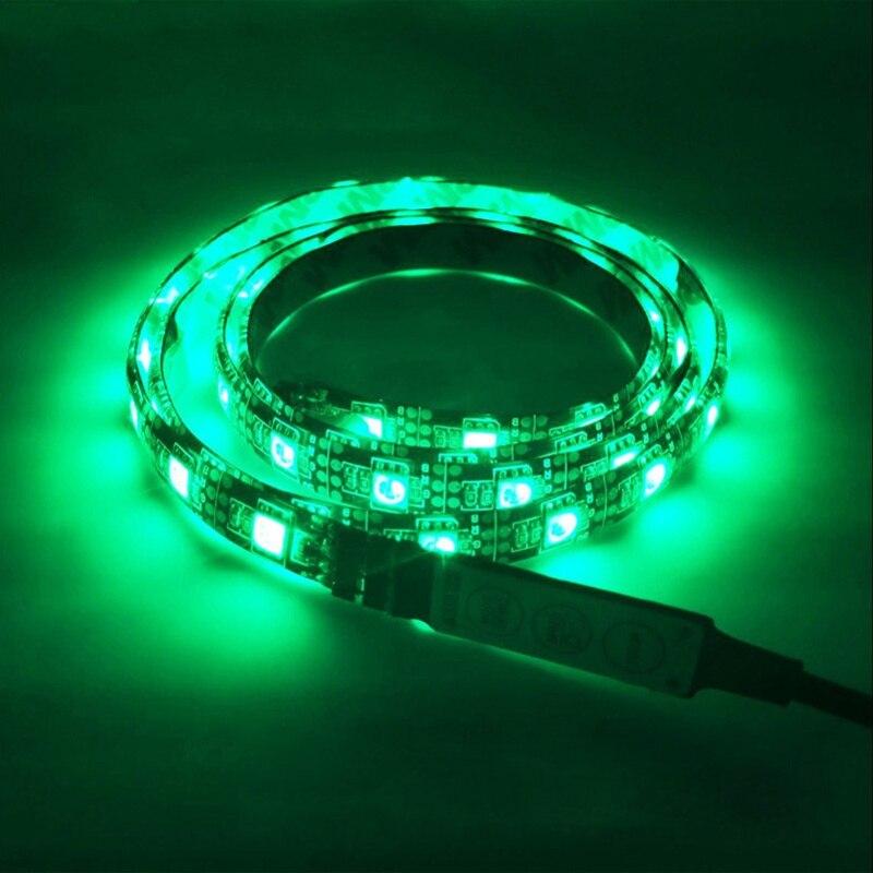 Waterproof DC5V USB LED Strip 5050 Flexible Light 1M 2M Backlight TV Background Lighting RGB LED strip Adhesive Tape IP20 / IP65