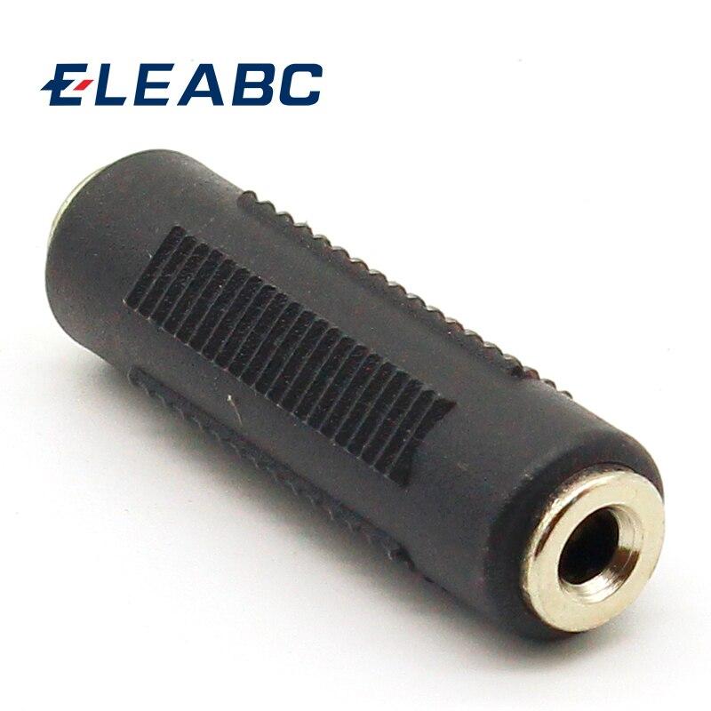 Adaptador de acoplador estéreo, fêmea 3.5mm a 3.5mm fêmea jack, 1 peça