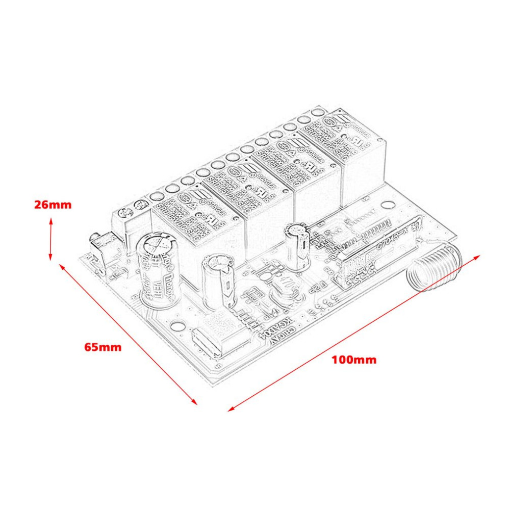12v 4 Ways Switch Learning Type Multi Modes Rf 433mhz Wireless Circuit Diagram Of Controlled Remote Control Ask Modulation Quality Brand New In Switches From Lights Lighting On