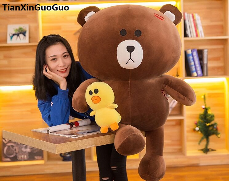 new arrival large 100cm dark brown teddy bear plush toy very soft cotton bear doll ,hugging pillow birthday gift w1310 usa flag teddy bear plush toy brown bear doll large 75cm soft throw pillow valentine s day present birthday gift w5462