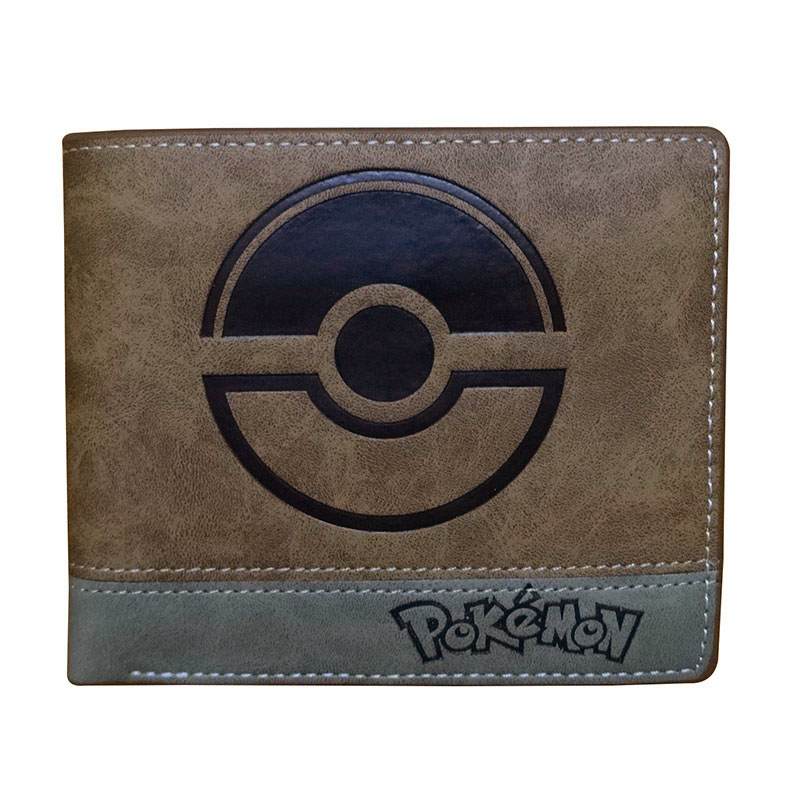 Anime Leather Men Wallet Game Pokemon Cartoon Purse Dollar Price Card Holder Gifts Teenager Short Wallets with Coin Pocket new anime style spiderman men wallet pu leather card holder purse dollar price boys girls short wallets with zipper coin pocket