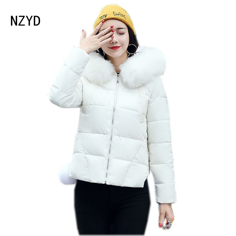 Winter Women Jacket Down 2017 New Fashion Hooded Thick Super warm Short Coat Solid color Slim Big yards Female Parkas LADIES241 women winter parkas 2017 new fashion hooded thick warm patchwork color short jacket long sleeve slim big yards coat ladies210