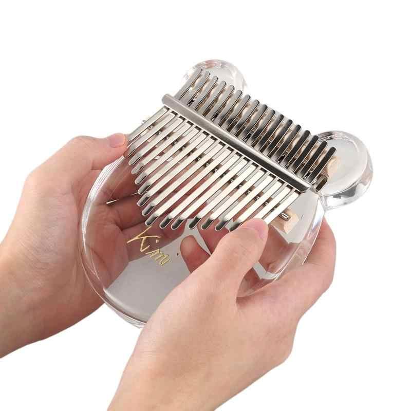 Топ!-кристально прозрачный инструмент калимба для большого пальца пианино калимба Пальчиковое пианино с тюнером молоток Gig Bag Kimi Calimba музыкальный в