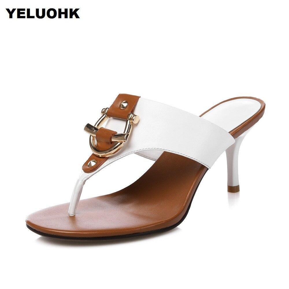 2018 Brand New Buckle Flip Flops Women Sandals Sexy -8319
