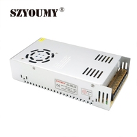 SZYOUMY 5pcs 360W DC 12V 30A Regulated Switching Power Supply For 5050 3528 RGB Strip led module free DHL shipping to USA UK EU