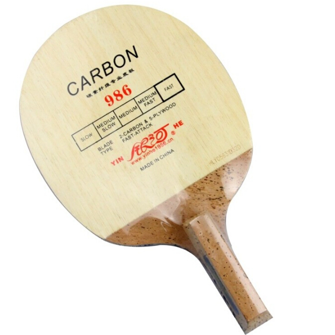 Yinhe 986 Carbon Fast-Attack Table Tennis Blade (Japanese penhold) for PingPong Racket Galaxy / Milky Way /