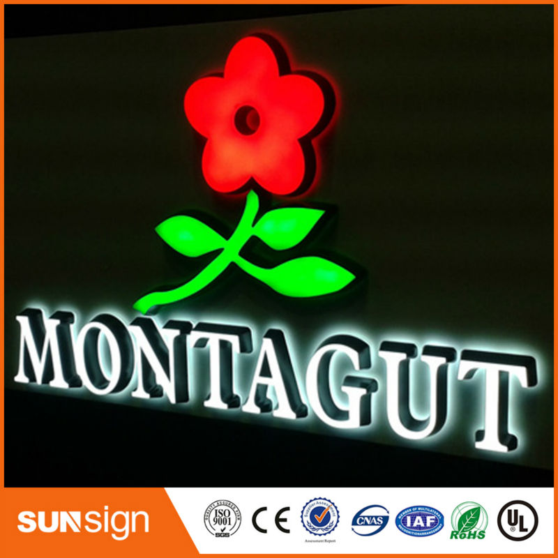 China Electronic Shop Sign Super Quality Acrylic Illuminated Letters