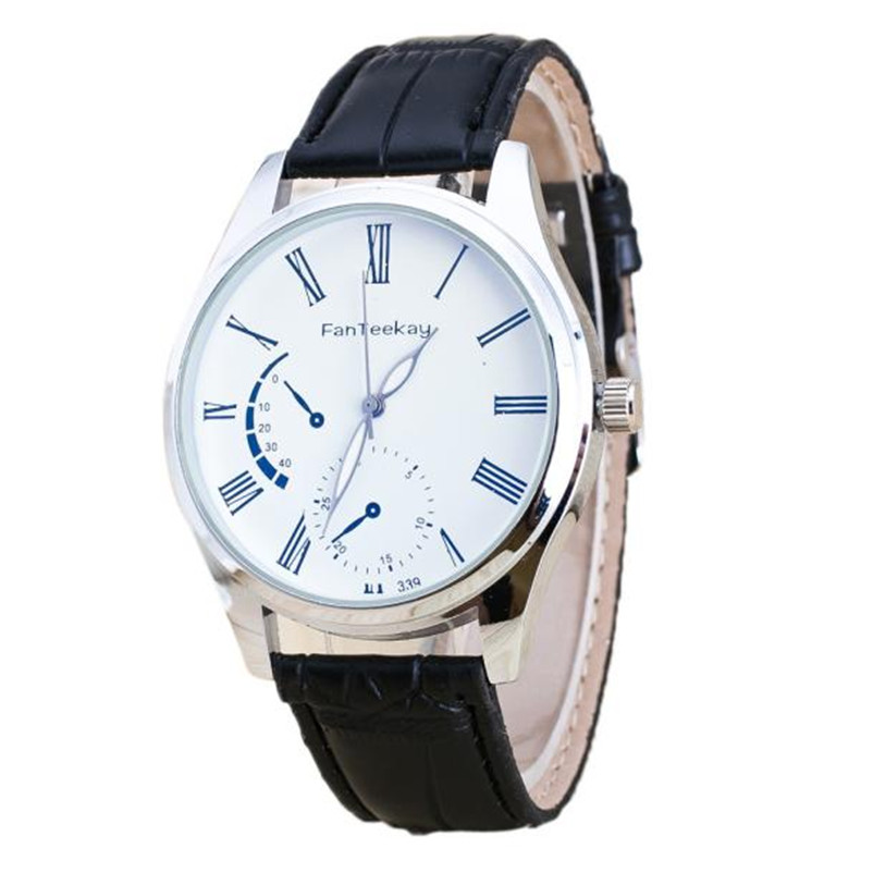2018 Newly Luxury Quartz Sport Military Stainless Steel Dial Leather Band Wrist Watch Me ...
