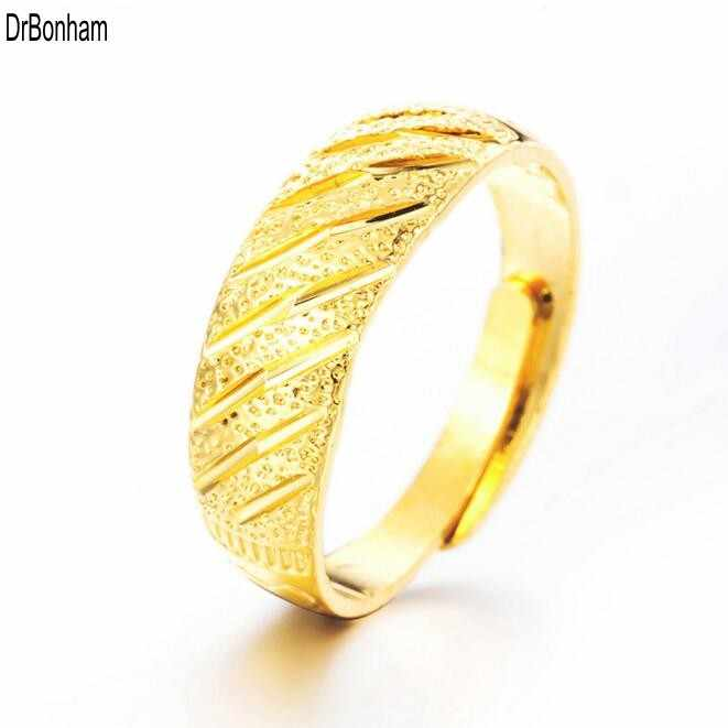 a793ee72db Never Fading 24K Gold rings for Women men Gold Color Dubai Bride Wedding  Ethiopian Africa alliance