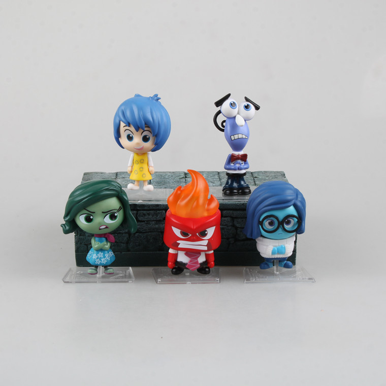 Pixar 5pcs/lot Movie Inside Out Action Figure Toy Cartoon Sadness Fear Joy Disgust Anger Christmas Gifts For Children