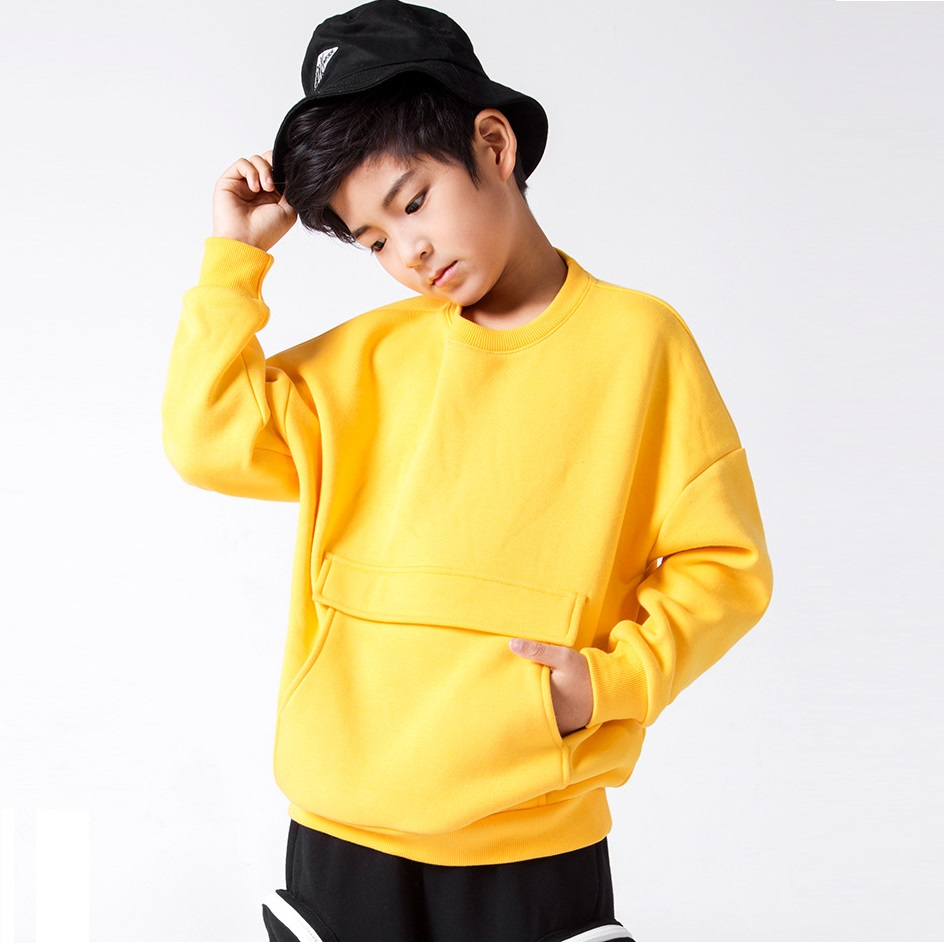 Sweatshirts Hoodies Long-Sleeves Thick Baby-Boys Winter Kids Child Autumn Pocket Warm