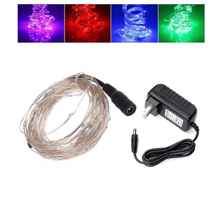 10m 100leds Koppar Wire LED StarryLights 12 V DC LED String Light, - Festlig belysning - Foto 2