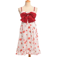 Sweet Big Bow JSK Lolita Dress Suspender Cherry Print Dresses