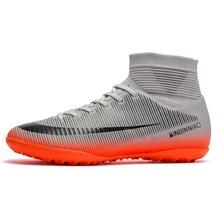 Sapatos masculinos De Futebol Com Meias de Alta Tornozelo Botas de Futebol  Meninos Zapatillas de Deporte Mujer Interior Chuteira. 9b9edc53af4a6