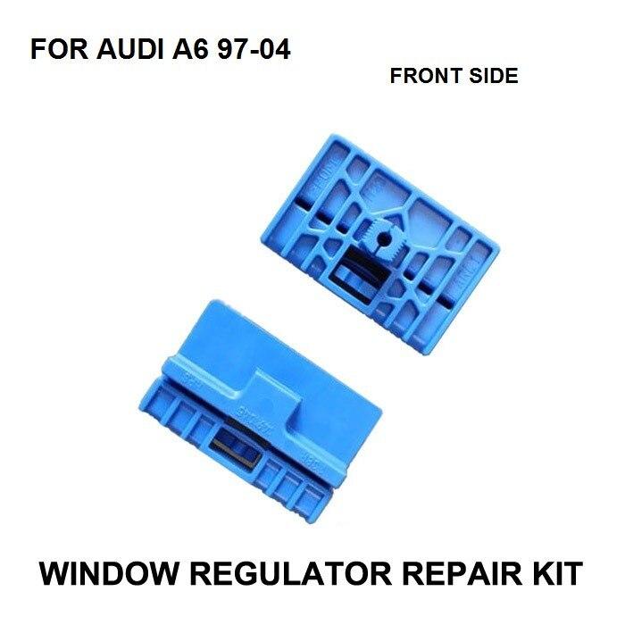 bilder für Neue x2 Kunststoff Clips Für Audi A6 1996-2004 Power Elektrische auto Fensterheber Fensterheber Reparatur Clip Teile Vorne Links rechts