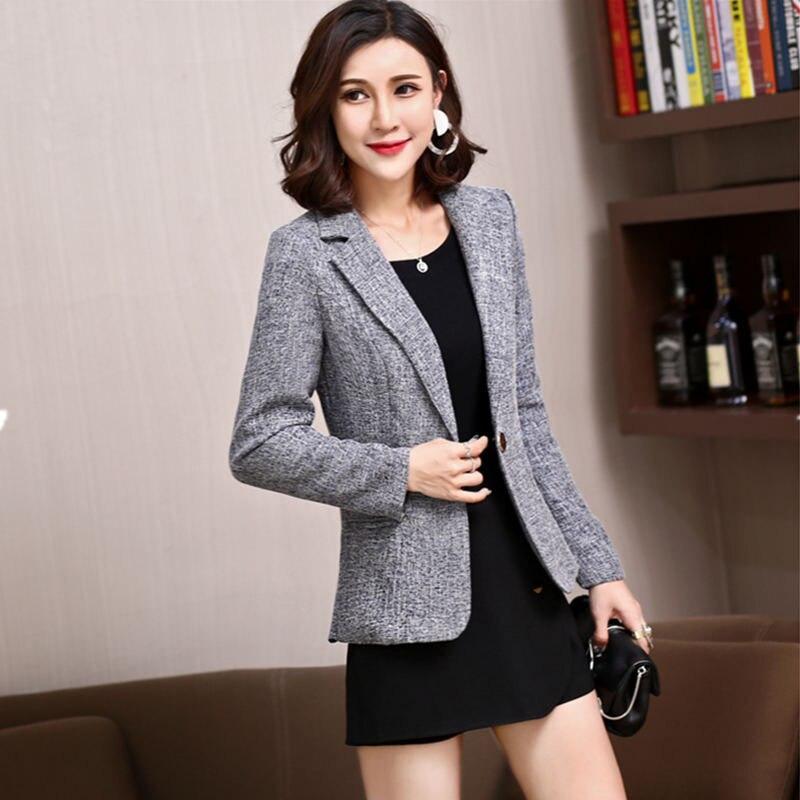 LANLOJER New Hot Élégant Confortable Femmes Blazers À Manches Longues de Dames de Bureau de Costume Vestes Work Wear Casual Femme Manteaux 851 #