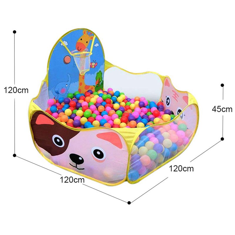 Baby Ball Pool Baby Play Tent Portable Baby Ball Ocean Pool and Basketball Hoop Animal Theme in Toy Tents from Toys Hobbies